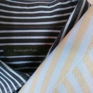 2 Ermenegildo Zegna Shirt Large Multicolor Stripes